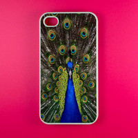 Iphone 4 Case - Peacock Iphone 4s Case, Iphone Case, Iphone 4 Cover