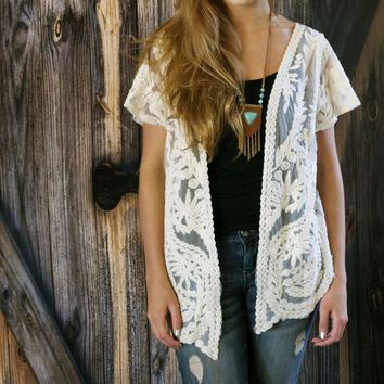 Embrodery Lace Cardigan