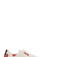 Comme Des Garons Play Ivory Heart Print Converse Edition Sneakers