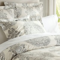 Lucianna Medallion Duvet Cover & Sham - Gray