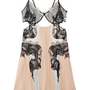 Discount Julien Macdonald Lace-detailed silk-chiffon dress|THE OUTNET