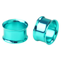 Teal Double Flared Plug 2 Pack