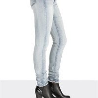 Denim Flex ™ Light wash gray stitch jegging