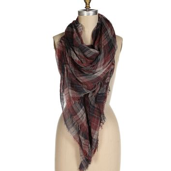 Pre-Order: Red Go-Anywhere Plaid Scarf