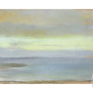 Marine Sunset, C.1869 Giclee Print by Edgar Degas at Art.com