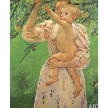 Picking an Apple, 1893 Giclee Print by Mary Cassatt at Art.com