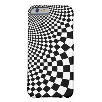 Punk black and white abstract checkerboard