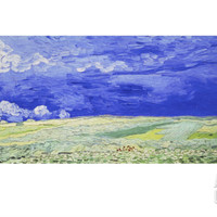 Field under a Stormy Sky Giclee Print by Vincent van Gogh at Art.com