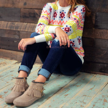 Candy Land Ivory Sweater