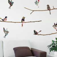 Wall Decal - Tapestry Birds & Branches - WallsNeedLove