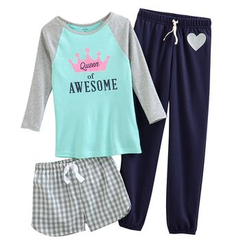 Carter's 3-pc. Queen of Awesome Pajama Set -Girls