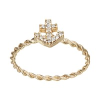 LC Lauren Conrad Twisted Anchor Ring