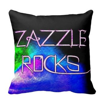 Zazzle Rocks Pillow