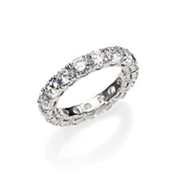 Adriana Orsini - Sterling Silver Eternity Band Ring - Saks Fifth Avenue Mobile