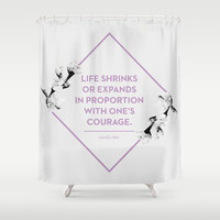 Courage Shower Curtain by Heart of Hearts Designs