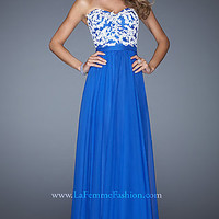 Strapless Evening Gown by La Femme