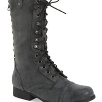 Madden Girl Galleria Lace-Up Studded Boot