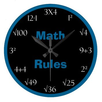 Math Problem Classroom Clock - Math Rules