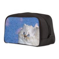 White Cat Toiletry Bag