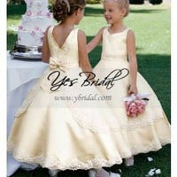 Angel Column Flower Girl Dresses