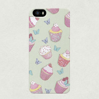Turquoise Cupcakes iPhone 4 4s 5 5s 5c Samsung Galaxy S3 S4 Case