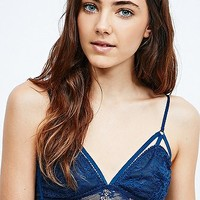 Silence + Noise Longline Lace Bralette in Blue - Urban Outfitters