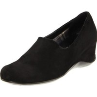 Aquatalia by Marvin K. Women`s Violet-SS Slip-On,Black Stretch Suede,9.5 B US