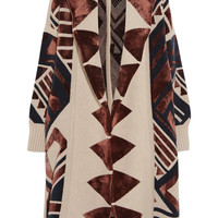 Burberry Prorsum - Intarsia knitted blanket coat