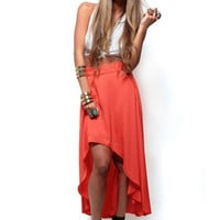 Summer Weave Skirt -OrangeBrand: HIPSTER