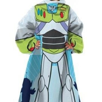 Disney, Toy Story, Buzz Real Hero 42-Inch-by-48-Inch Youth Comfy Throw with Sleeves by The Northwest Company