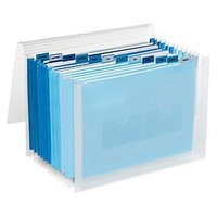 Blue 13-Pocket Accordion Letter File | The Container Store