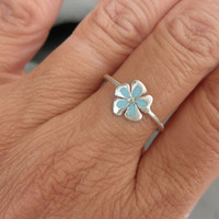 Enamel flower ring