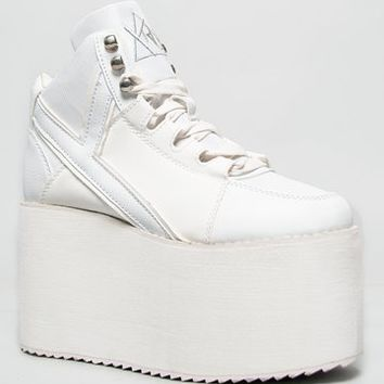 Y.R.U. Shoes YRU QOZMO Lace Up High Flatform Platform Sneaker