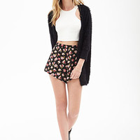 Watercolor Floral Woven Shorts