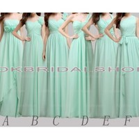 long bridesmaid dresses, cheap bridesmaid dresses, mint bridesmaid dresses, custom bridesmaid dresses, mismatched bridesmaid dresses, chiffon bridesmaid dresses