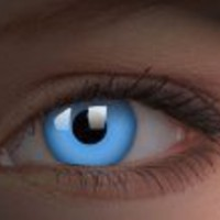 Glow UV Blue Contact Lenses