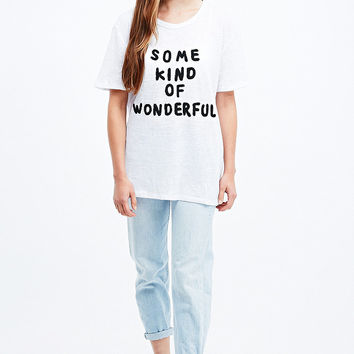 Native Rose Some Kind of Wonderful Tee in White - Urban Outfitters