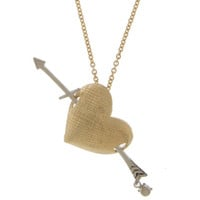 Heart Charm Necklace Fashion Jewelry Valentine's Day Gifts Gold Charm Necklace for Women Girlfriend Gifts - By PiYOYO