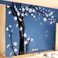 Vinyl Wall Decal Nature Design Tree Wall Decals Wall stickers Nursery wall decal wall art------Plum blossom tree