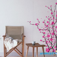Vinyl Wall Decal Nature Design Tree Wall Decals Wall stickers Nursery wall decal wall art------Plum blossom