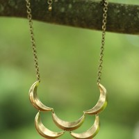 By The Moon Necklace in Gold