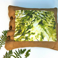 Green Pillow, Rustic Home Decor, Decorative Pillow, Nature Photography, Big Pillow, pillow cases, unique pillow,
