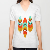 Feathers Fly On Unisex V-Neck by Hayley Lang