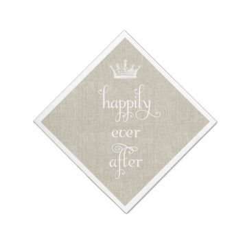 Happily Ever After Crown Linen Napkins