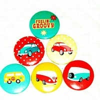 Fridge Magnets - Retro Volkswagons,.. on Luulla