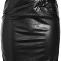 3.1 Phillip Lim Twist-front leather pencil skirt - 65% Off Now at THE OUTNET