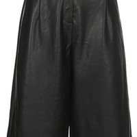 Leather-Look Culottes