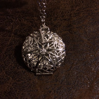 Custom Silver Locket with Initial Pendant Essential Oil Diffuser~Aromatherapy Necklace~Perfume Necklace~Womens Jewlery~Girls Jewelry