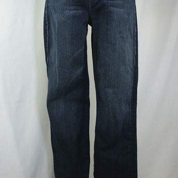 Medium wash boot cut jeans