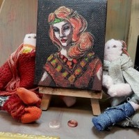 The Red Queen miniature painting by Alexandra Cook